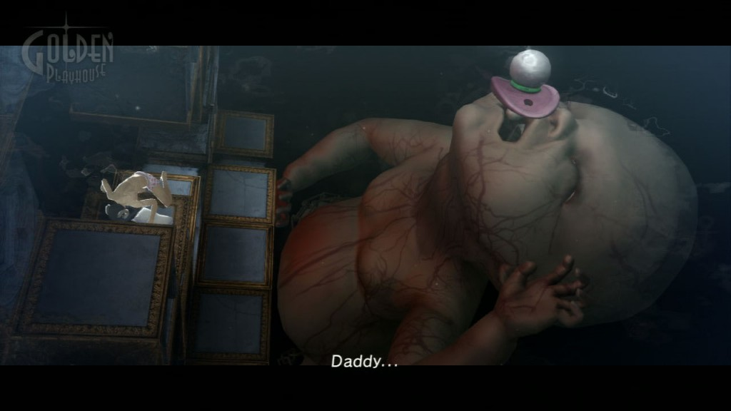 Being chased by this big-ass freaky giant baby in Catherine is one of the scariest things ever. Apart from gettiing chased by a giant arse. Yeah, that happens.