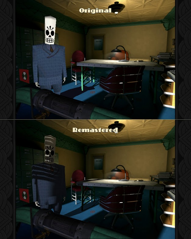Grim Fandango remastered comparison PS4