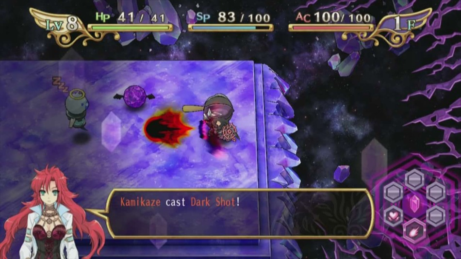 Combat throughout the dungeons is a 2D top-down affair