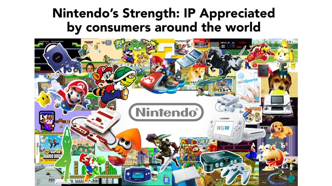 Nintendo fully admit - and embrace - their appeal is almost exclusively delivered through their original IPs