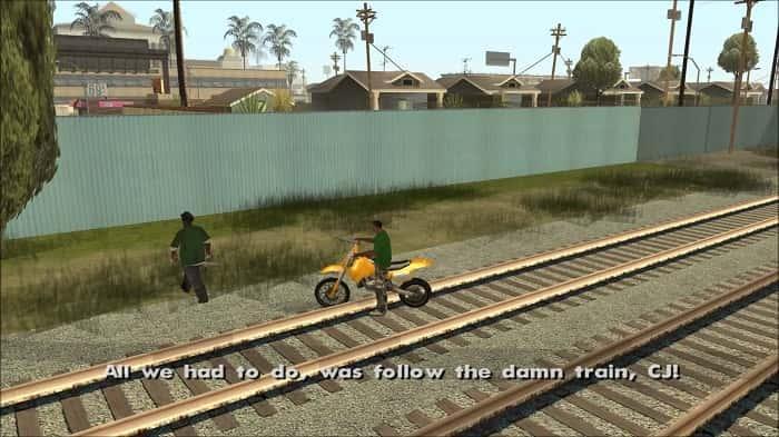 GTA San Andreas - Train Tracks-min